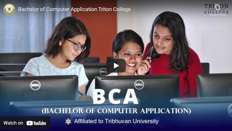 Bachelor of Computer Application (BCA) at Triton College