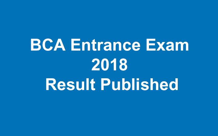 TU Published BCA Entrance Exam Result 2018